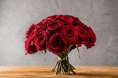 Quadro rosas vermelhas