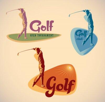 Quadro Rótulos de golfe