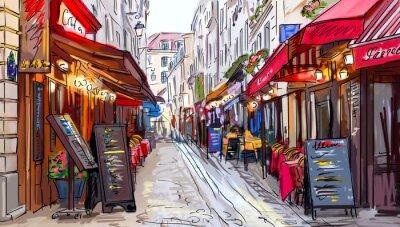 Quadro Rua em Paris - ilustração