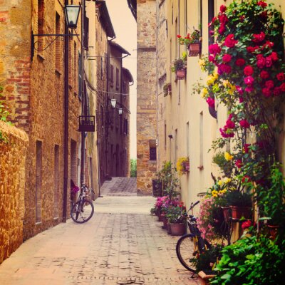 Quadro rua em Pienza
