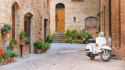 Quadro Ruas italianos na pequena cidade toscana e um popular-tr único
