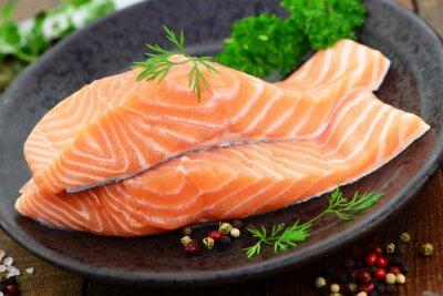 Quadro salmão ervas