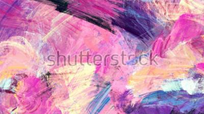 Quadro Salpicos artísticos brilhantes. Textura de cor de pintura abstrata. Moderno padrão futurista. Fundo dinâmico multicolorido. Arte finala do Fractal para o projeto gráfico criativo.