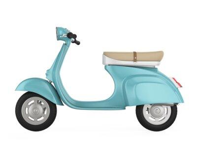 Quadro Scooter retro vintage isolado