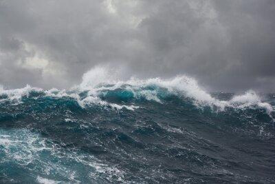 Quadro sea wave during storm in atlantic ocean