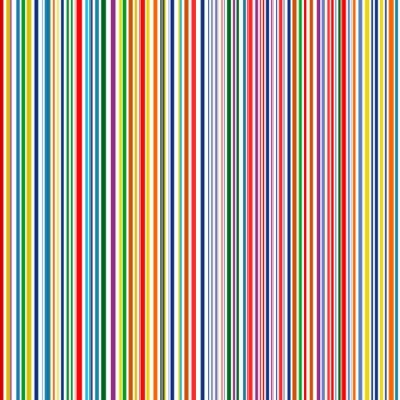 Quadro Seamless arco-íris curvado listras cor linha de fundo do vetor de arte