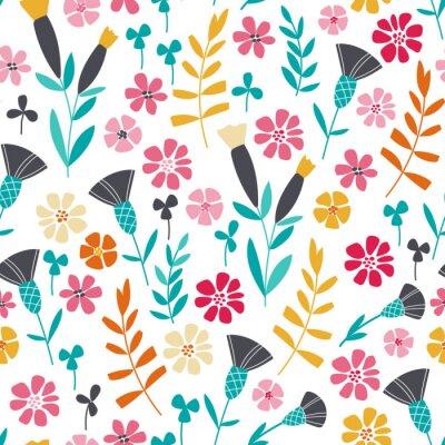 Quadro Seamless, brilhante, Escandinavo, floral, Padrão