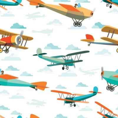 Quadro Seamless, Padrão, retro, Aviões