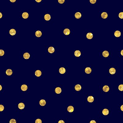 Quadro Seamless polka dot golden pattern.