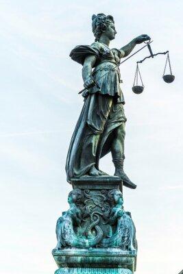 Quadro senhora justiça em Frankfurt