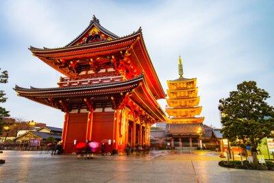 Quadro Senso-ji na área de Asakusa, em Tóquio, Japão