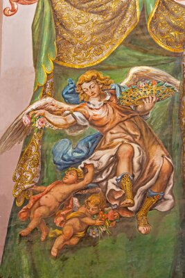 Quadro Seville - fresco of angel with the roses