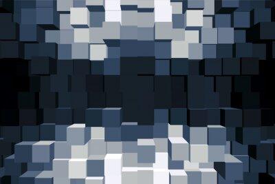 Quadro Sfondo cubico monocromático.