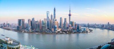 Quadro shanghai skyline vista panorâmica