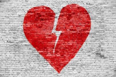 Quadro Shape of broken heart
