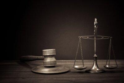 Quadro Símbolo de justiça