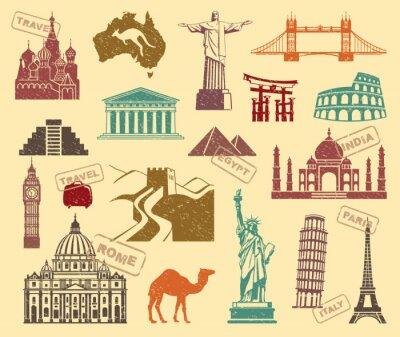 Quadro Símbolos da viagem