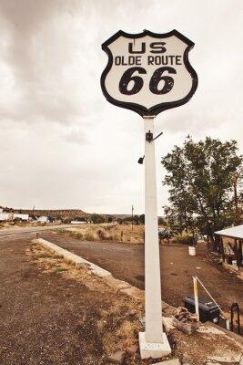Quadro Sinal da rota 66