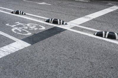 Quadro Sinalização de pista de bicicleta na cidade