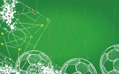 Quadro Soccer / Football design template,free copy space, vector