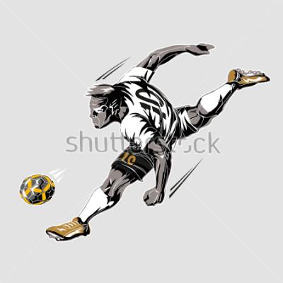 Quadro Soccer player power kick