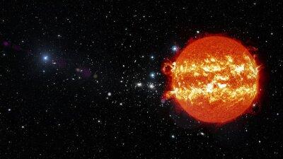 Quadro Sol no espaço. Elementos desta imagem fornecidos pela NASA
