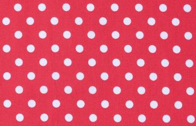 Quadro Stoff Textur Rot Weiss Punktmuster