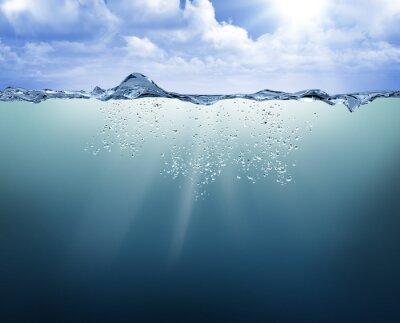 Quadro Submarinas, vista, azul, água