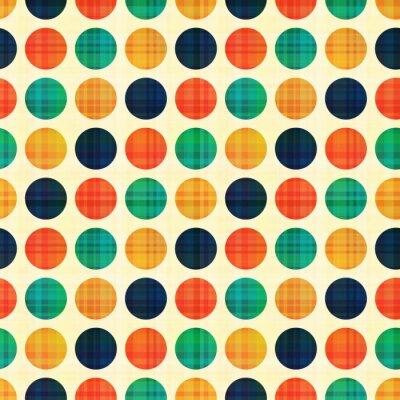 Quadro Sumário sem emenda polka dots padrão
