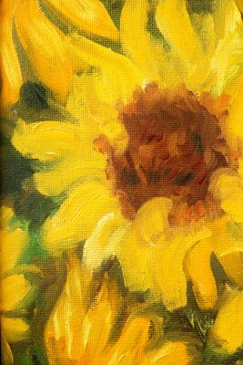 Quadro Sunny Sunflowers  Oil painting on canvas.