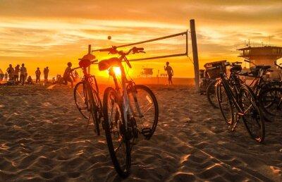 Quadro sunset beach volleyball at venice beach
