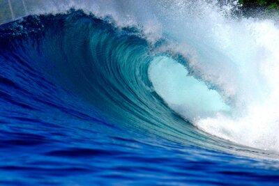 Quadro Surfe de ondas do oceano azul