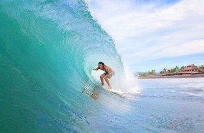 Quadro Surfista em um tubo