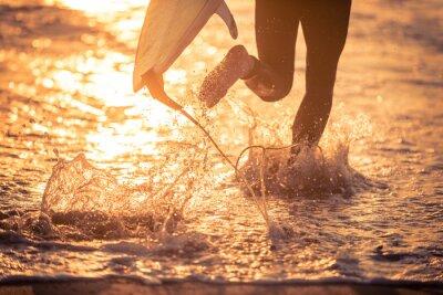 Quadro Surfista, Executando, água, seu, tábua