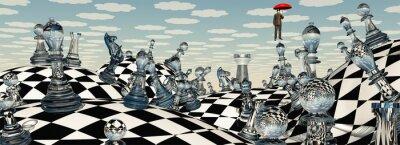 Quadro Surreal Chess Paisagem