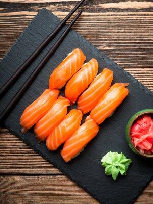 Quadro Sushi com salmão