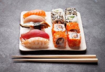 Quadro Sushi e maki conjunto
