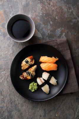 Quadro Sushi fresco com peixe