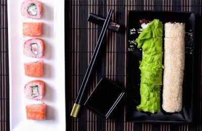 Quadro Sushi, rolos, platter