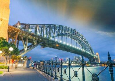Quadro Sydney, Nova Gales do Sul. Amazing vista do pôr do sol da ponte do porto
