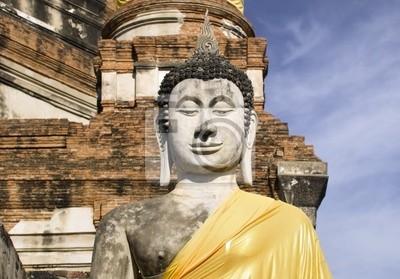 Quadro Tailândia - Ayutthaya Wat Yai Chai Mongkon