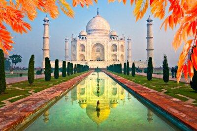 Quadro Taj Mahal no nascer do sol, Agra, Uttar Pradesh, India.