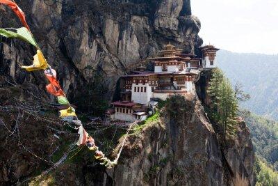 Quadro Taktshang Goemba, mosteiro ninho do tigre no Butão