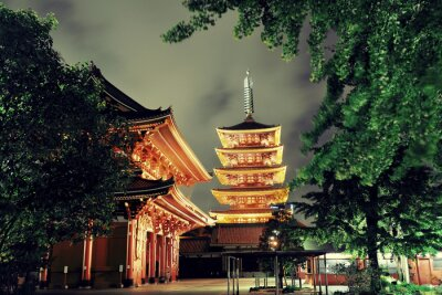 Quadro Templo de Tóquio