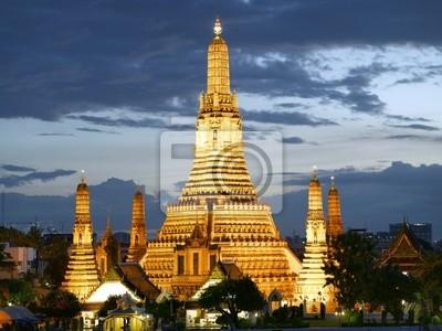 Quadro Templo Wat Arun no crepúsculo