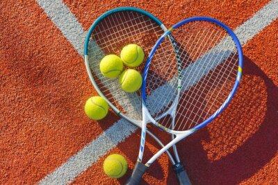 Quadro Tênis, bola de tênis, fundo.