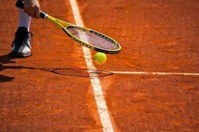 Quadro Terrain de tênis, raquette et balle jaune