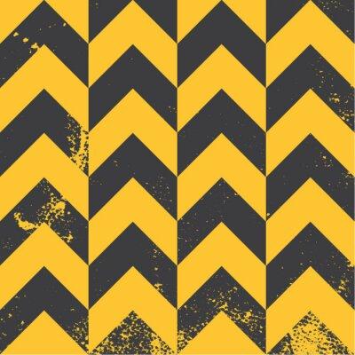Quadro teste padrão amarelo da viga com textura afligida