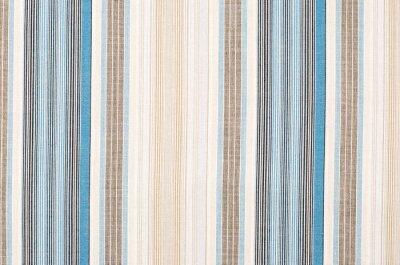 Quadro Teste padrão azul e marrom listrado de matéria têxtil como um fundo. Feche acima no tecido textured material diferente das listras verticais.