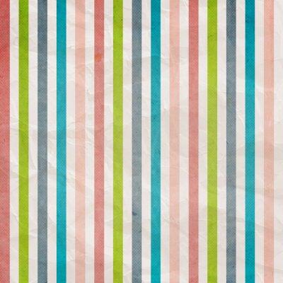 Quadro Teste padrão da listra retro - fundo com cor-de-rosa, ciano, cinzento,